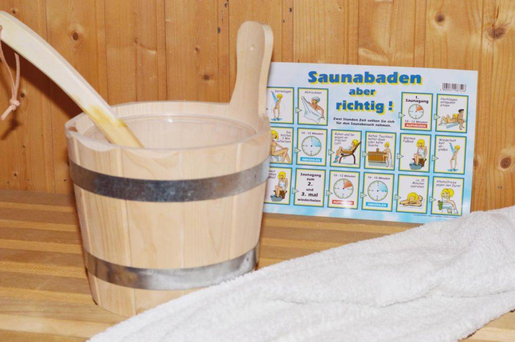 Sauna Aufguss Kübel