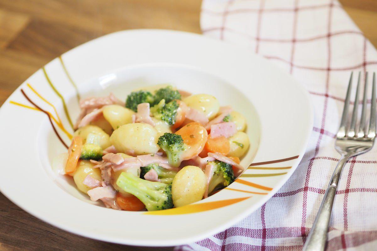 Rahmgemüse mit Gnocci laktosefrei kochen