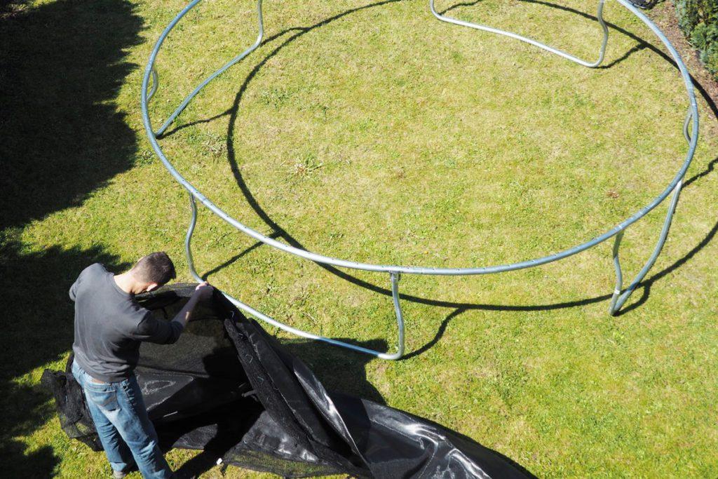 Hudora Trampolin Aufbau