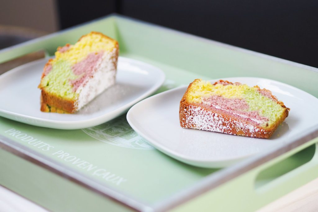 Papageienkuchen Kuchenstücke