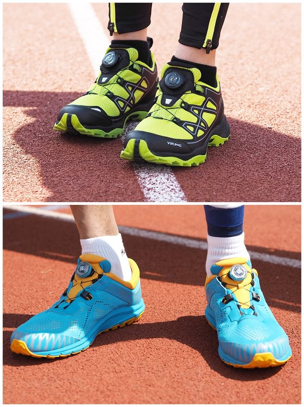Viking Schuhe vor dem Start