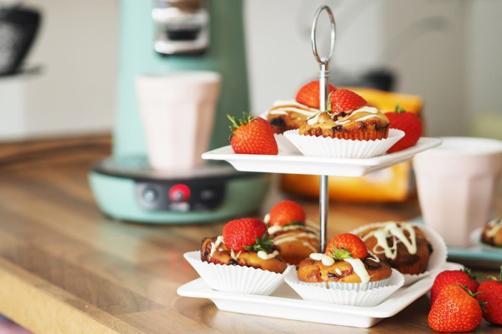 senseo viva cafe erdbeermuffins
