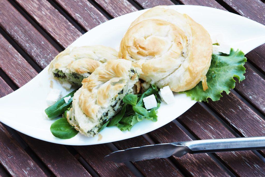 MEGGLE Ofen Schnecke mit Hirtenkäse Spinat füllung