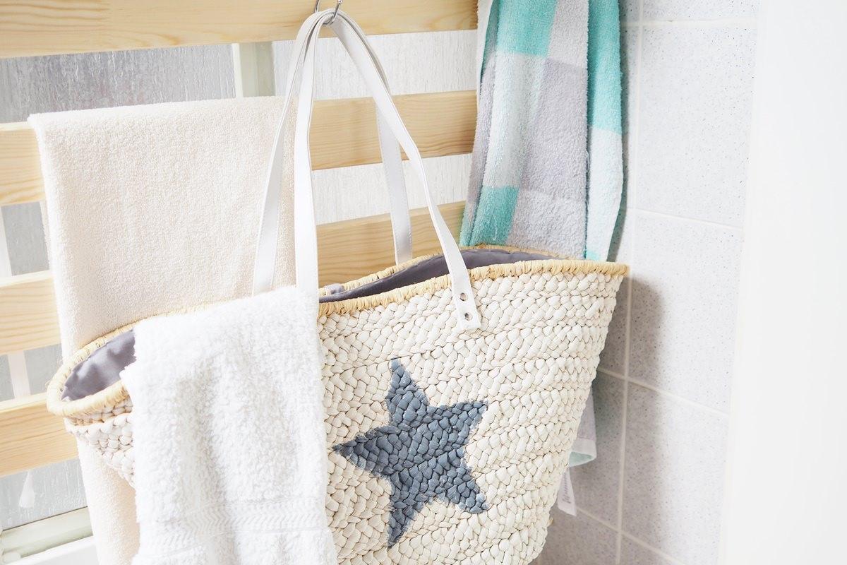 DIY Wandaufbewahrung im Badezimmer - alles sofort griffbereit