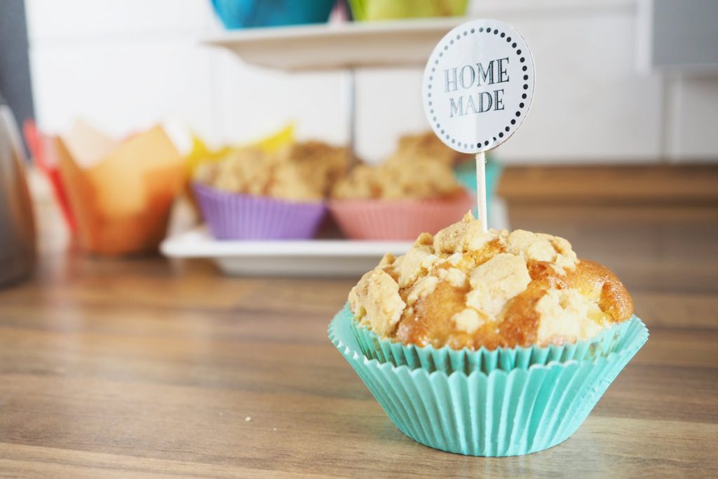 rezept kaffeezeit mit leckeren apfel streusel muffins. Black Bedroom Furniture Sets. Home Design Ideas