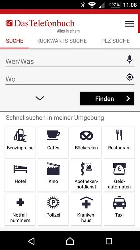 App von Das Telefonbuch Screenshot