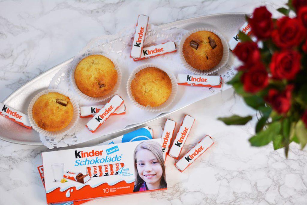 muffins mit kinder schokolade aktion dein gesicht rezept muffins