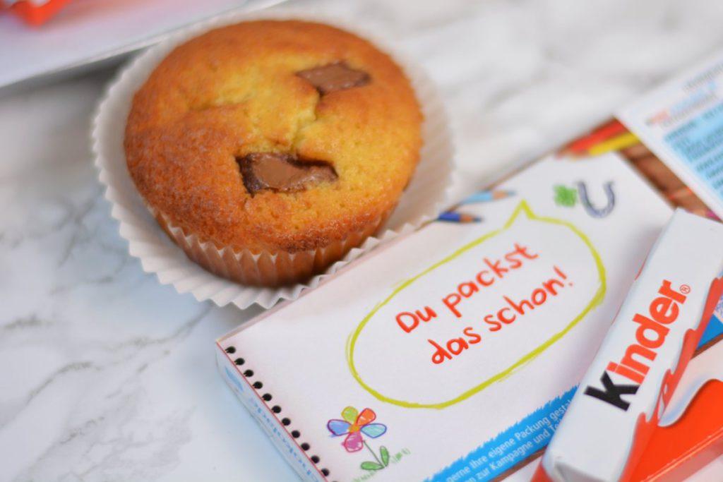 muffins mit kinder schokolade muffins rezept kinderriegel