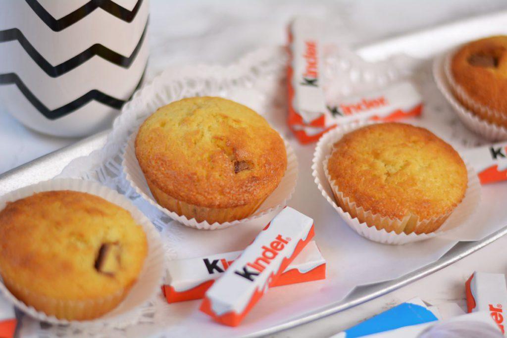 muffins kinder schokolade