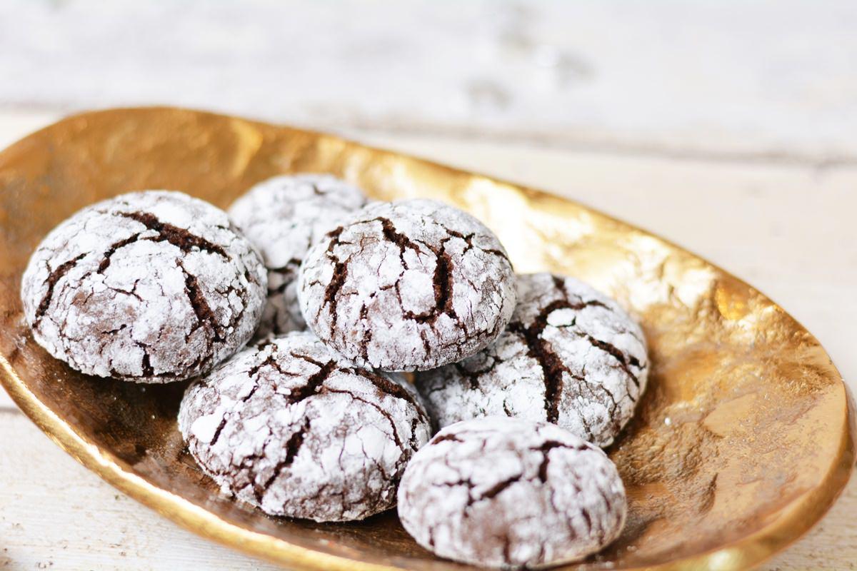 in der weihnachtsb ckerei crinkle cookies rezept. Black Bedroom Furniture Sets. Home Design Ideas