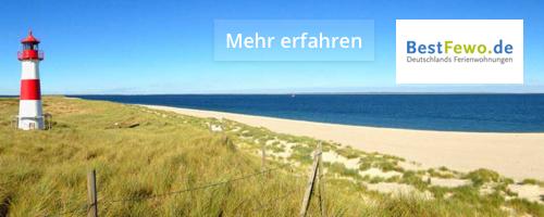 BestFewo mehr erfahren Ostsee-Urlaub Ferienwohnung