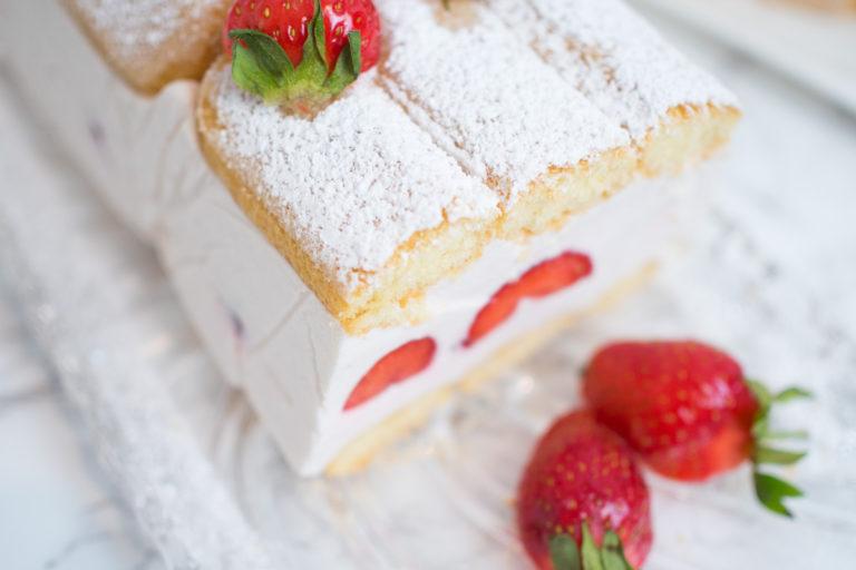 sommerkuchen erdbeer kastenkuchen kuchen ohne backen rezept