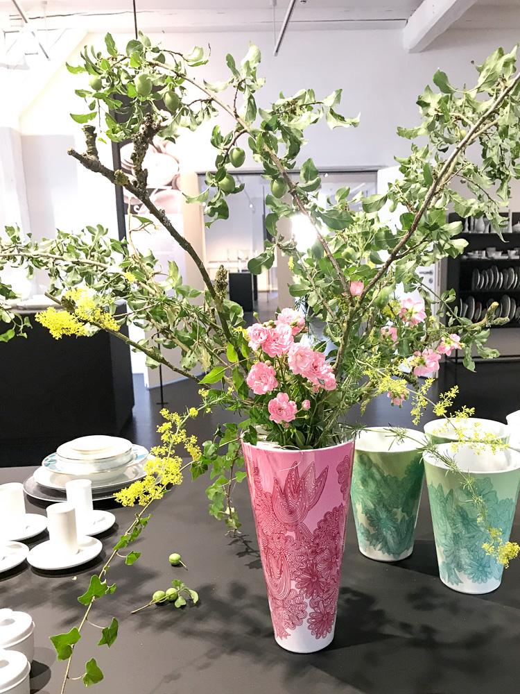 porzellan vase fuerstenberg dekoration