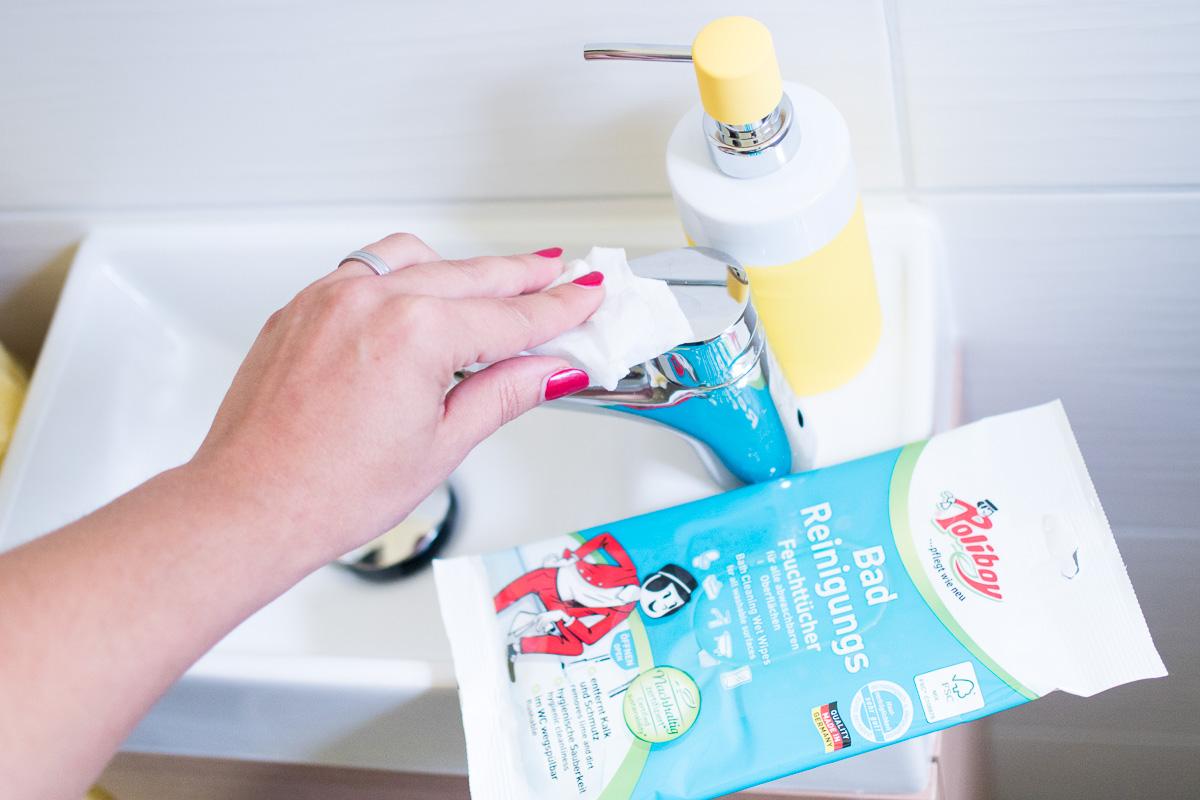 Zeitmanagement Haushalt Hausarbeit Badezimmer Poliboy feuchtuech
