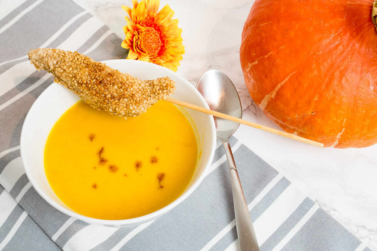 hokkaido kuerbissuppe rezept mit kokosmilch