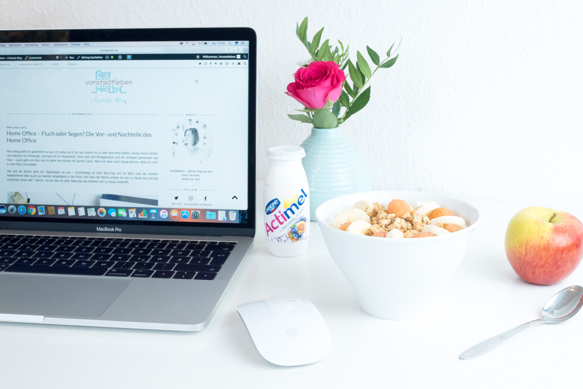 home office blogger danone actimel