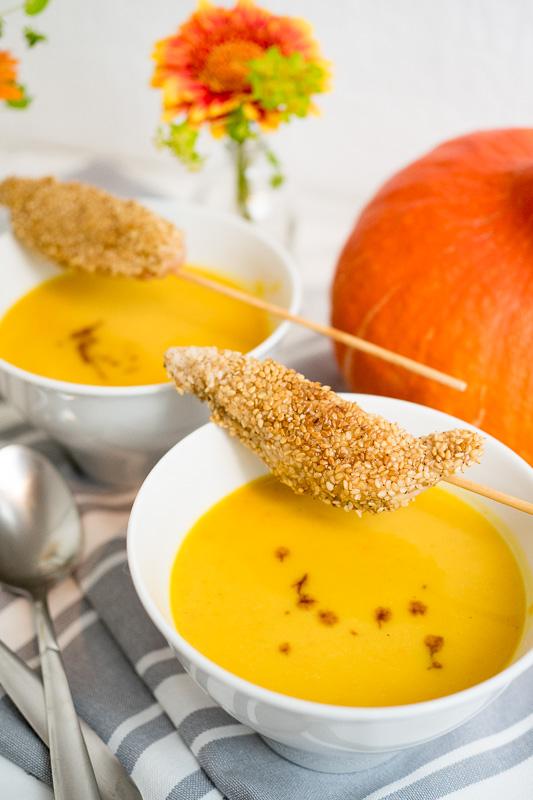 kuerbissuppe mit einlage rezept