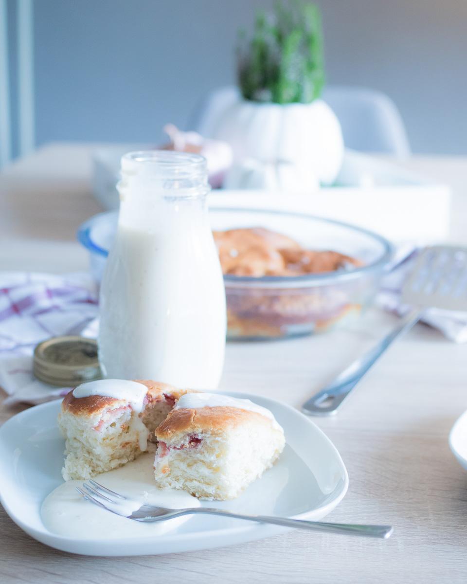 buchteln mit pflaumenmusfuellung und vanillesosse rezept