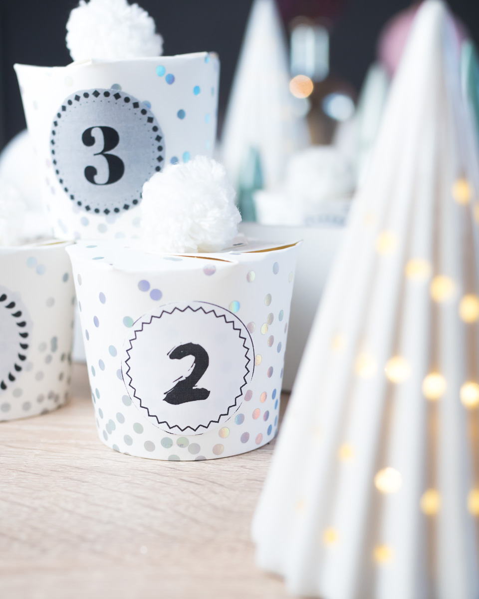 pappbecher adventskalender diy