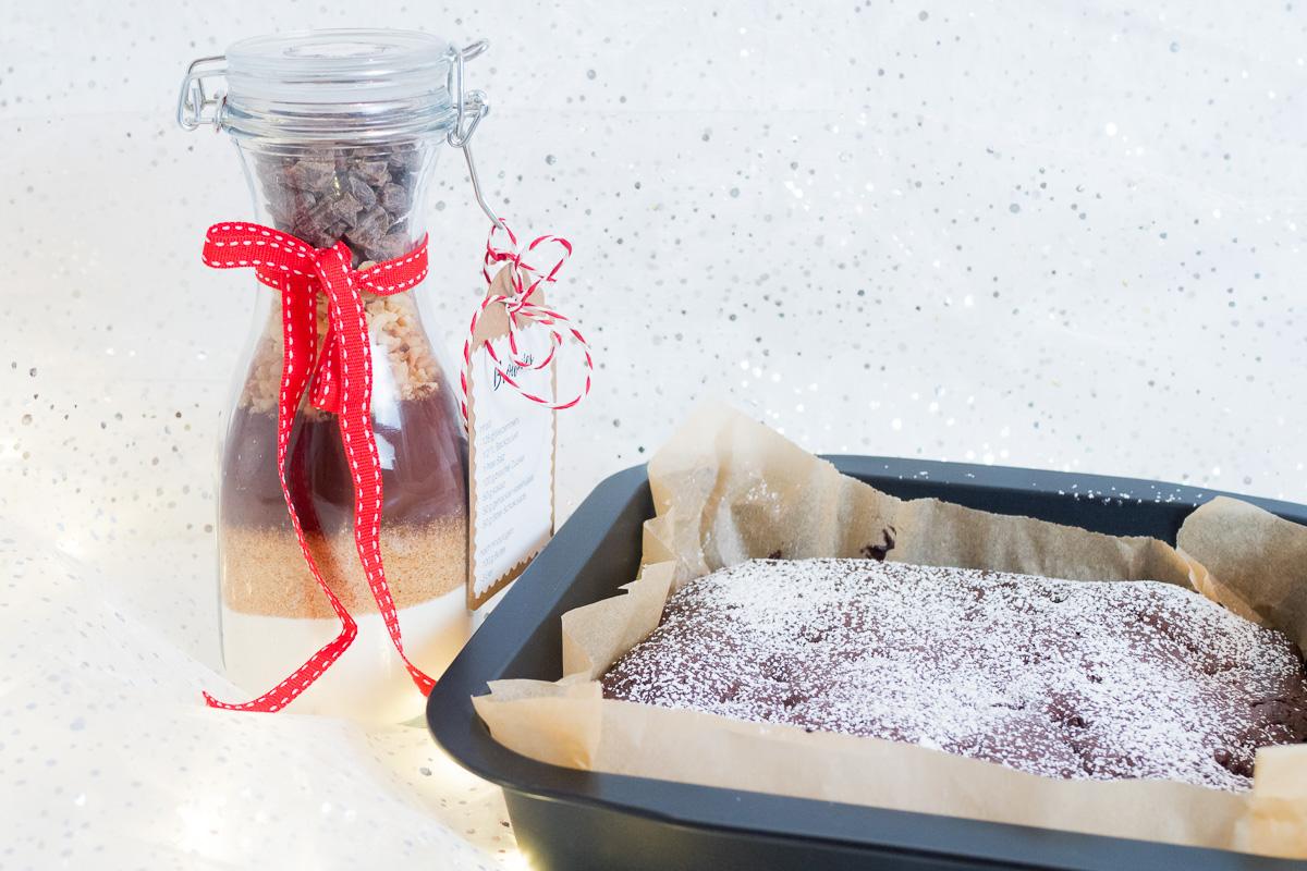 backmischung im glas brownies rezept