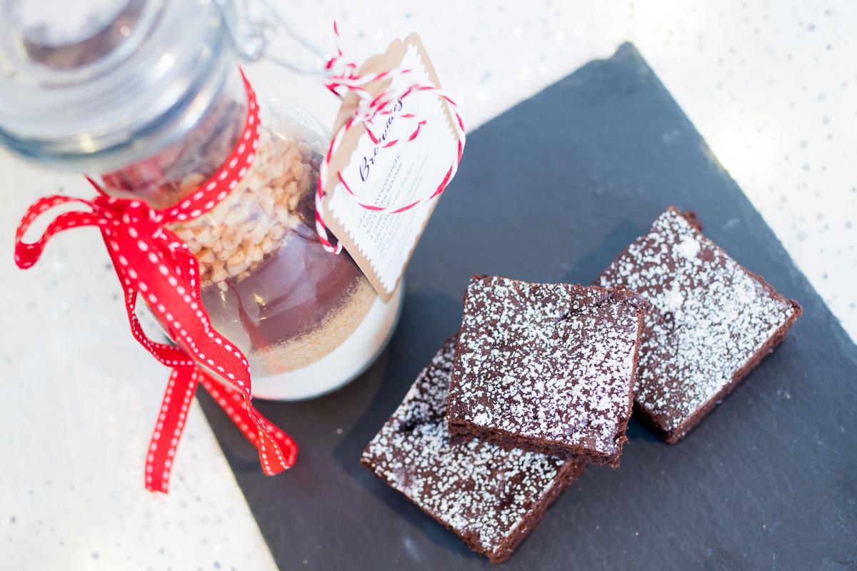 backmischung im glas rezept brownies