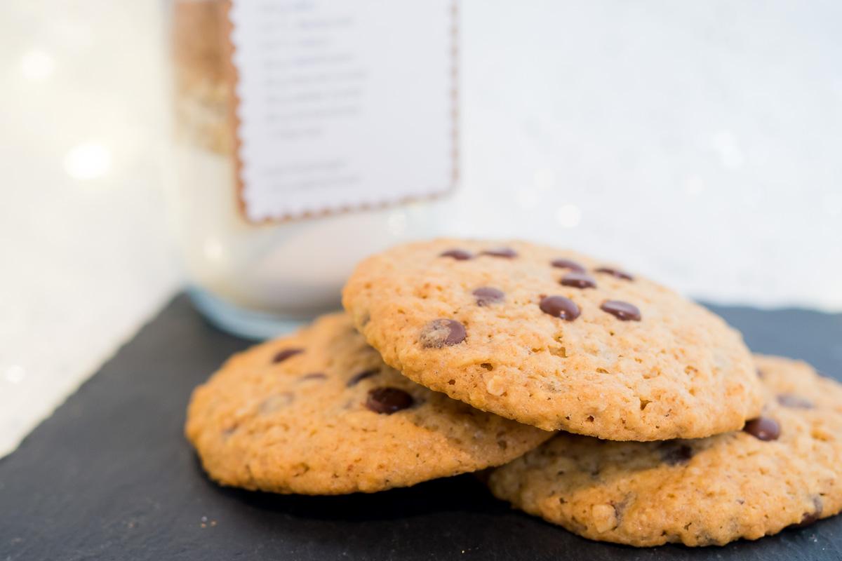 cookies rezept backmischung im glas