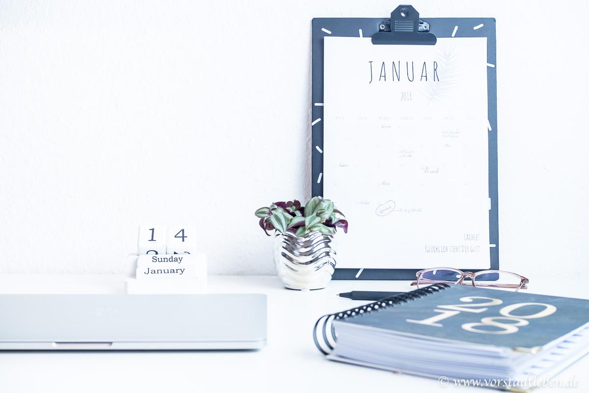 Kalender 2018 Printable Download Schreibtisch Klemmbrett