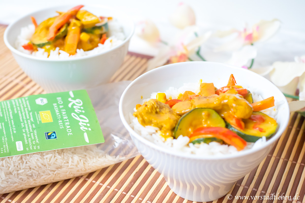 Rii Jii Basmati Reis Bio Fairtrade Currygericht