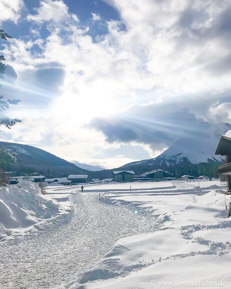 schneelandschaft weidach winterurlaub vorstadtleben
