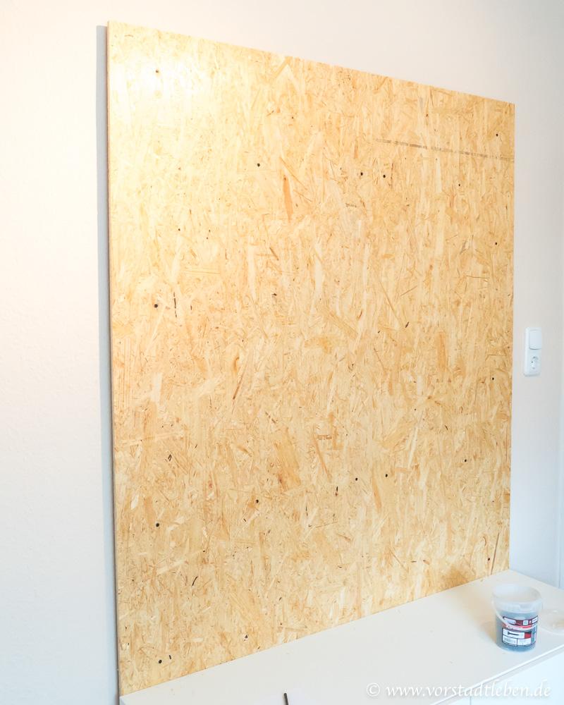 DIY TV Wand Holzoplatte