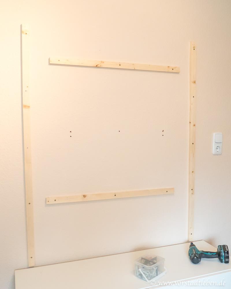 DIY TV Wand Unterkonstruktion