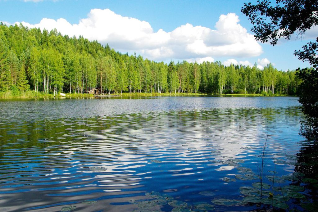 sommer in finnland see