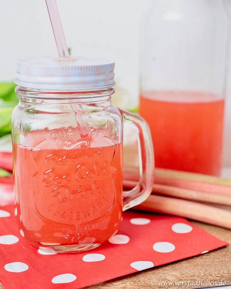 Rhabarber Erdbeer Limonade Rezept