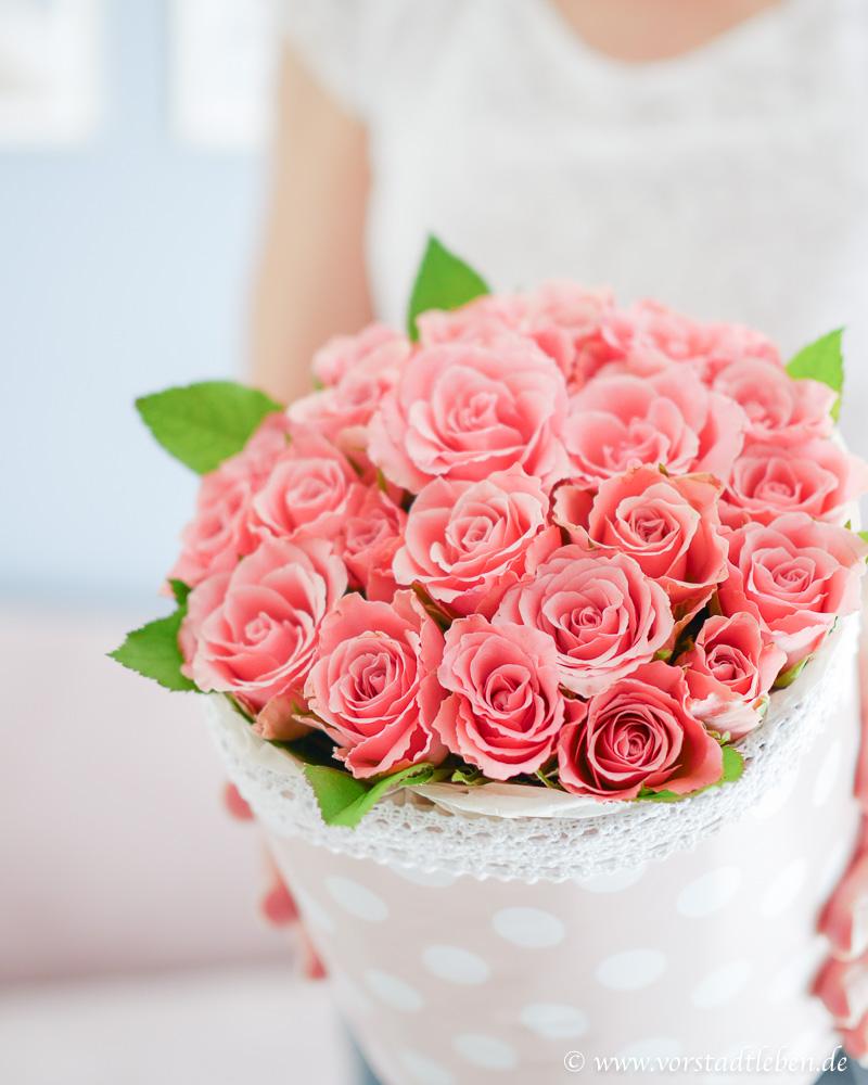 Blumen verschenken DIY Flowerbox