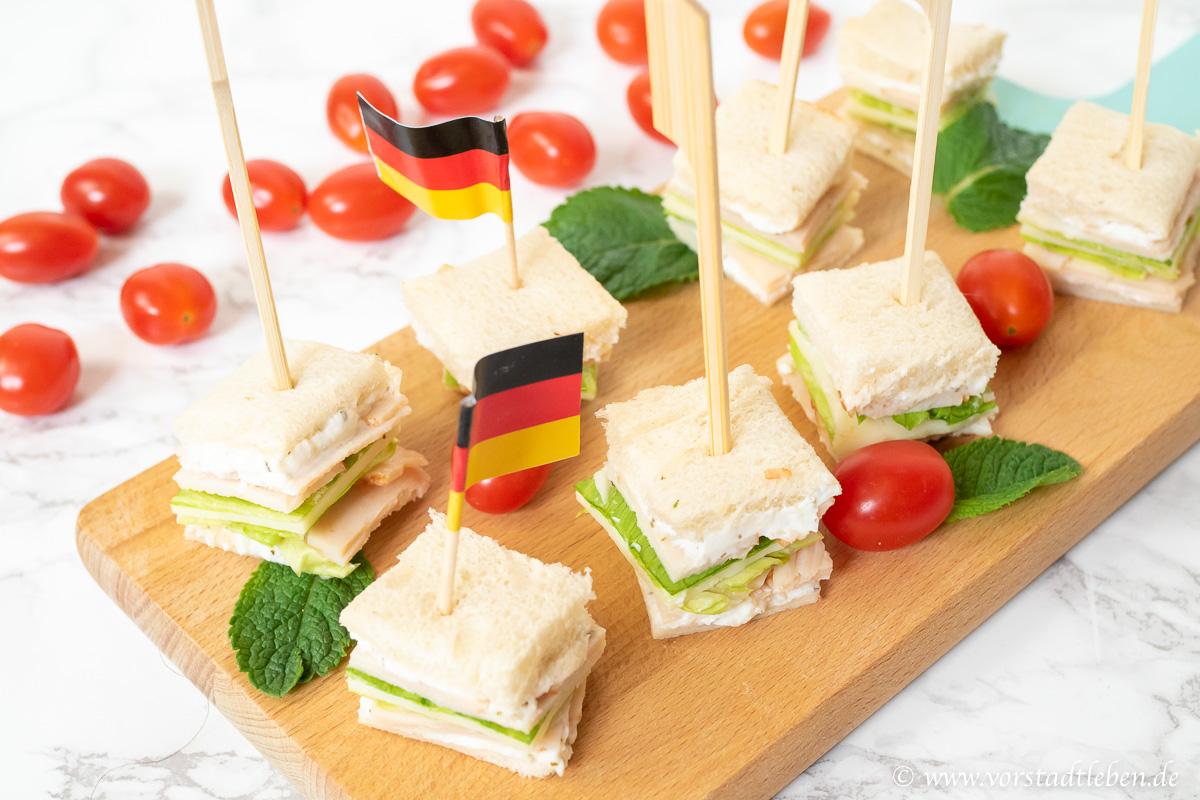 Partysnack Halbzeitsnack mini sandwiches