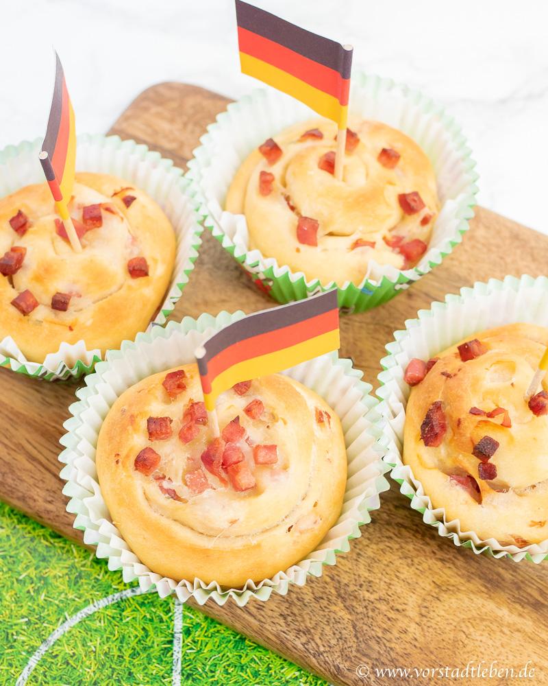 Brotschnecken Fingerfood WM Snack