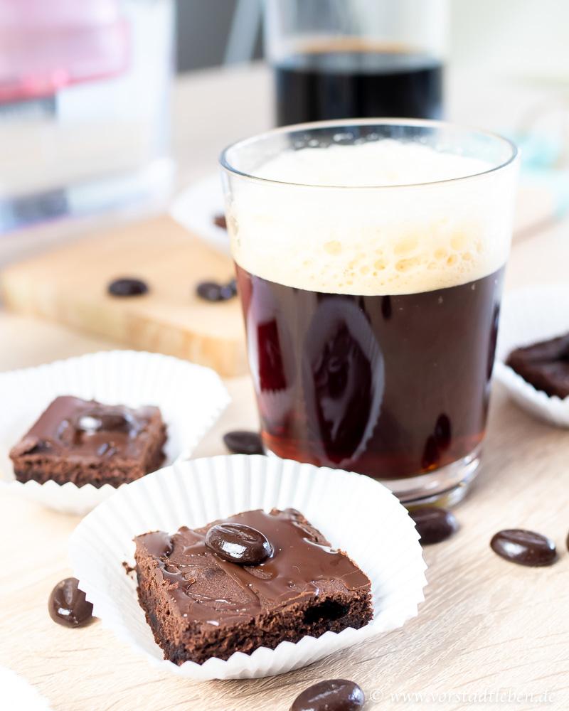 Cold brew und Kaffeebrownies
