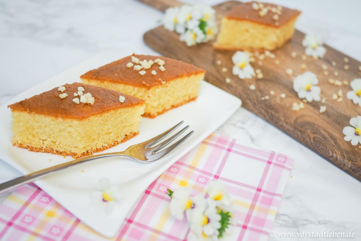 Griechischer Griesskuchen Kos Ravani saftiger Kuchen mit Zuckers