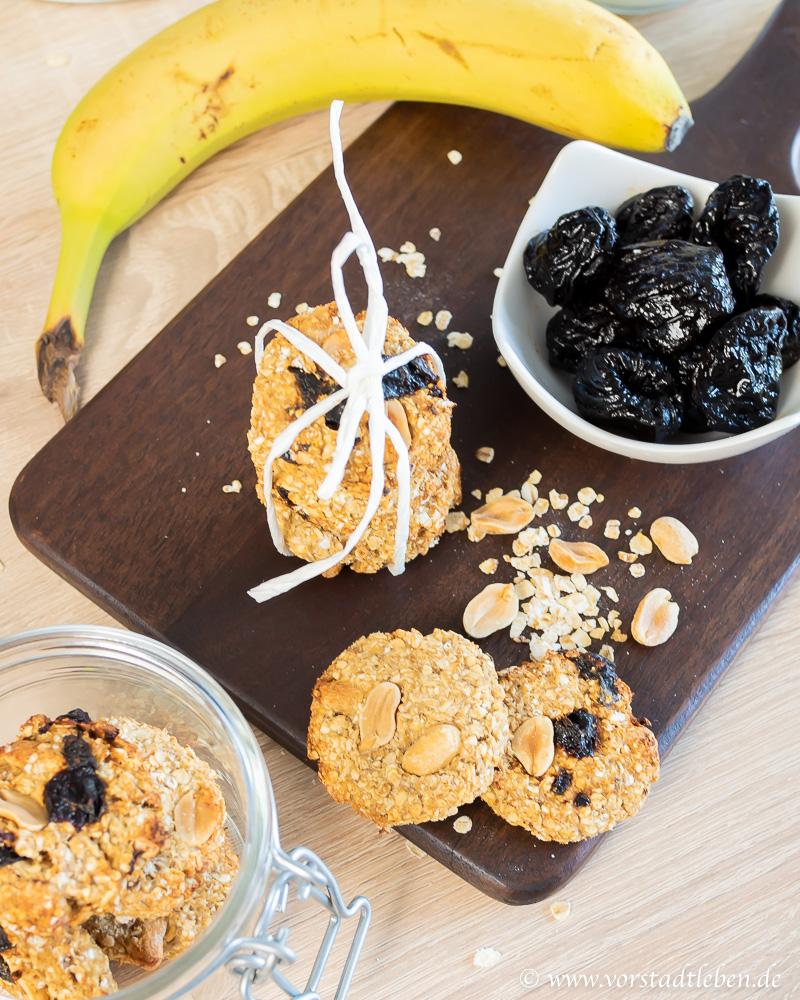Hafercookies gesund naschen Rezept
