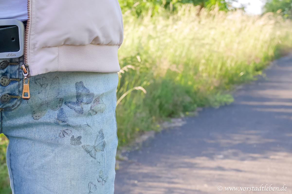 Jeans Schmetterlinge