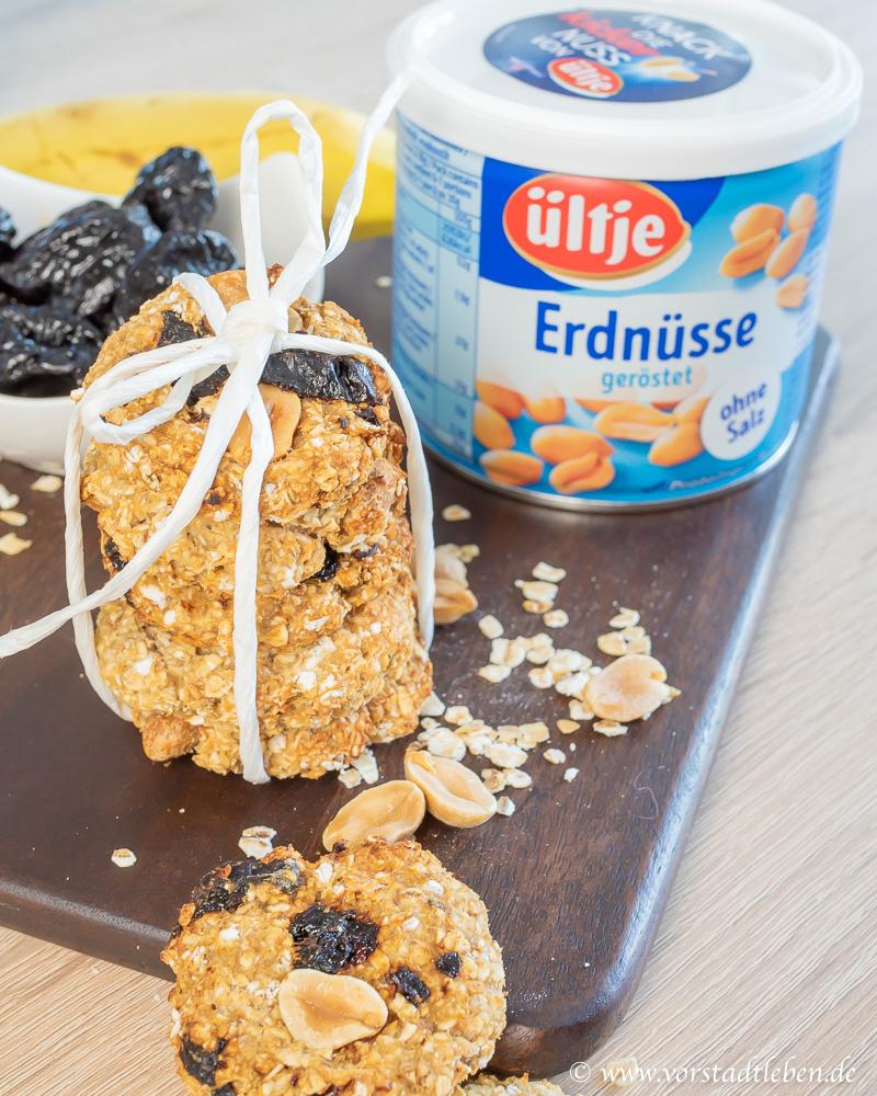 gesunder snack mit erdnuessen haferkekse rezept