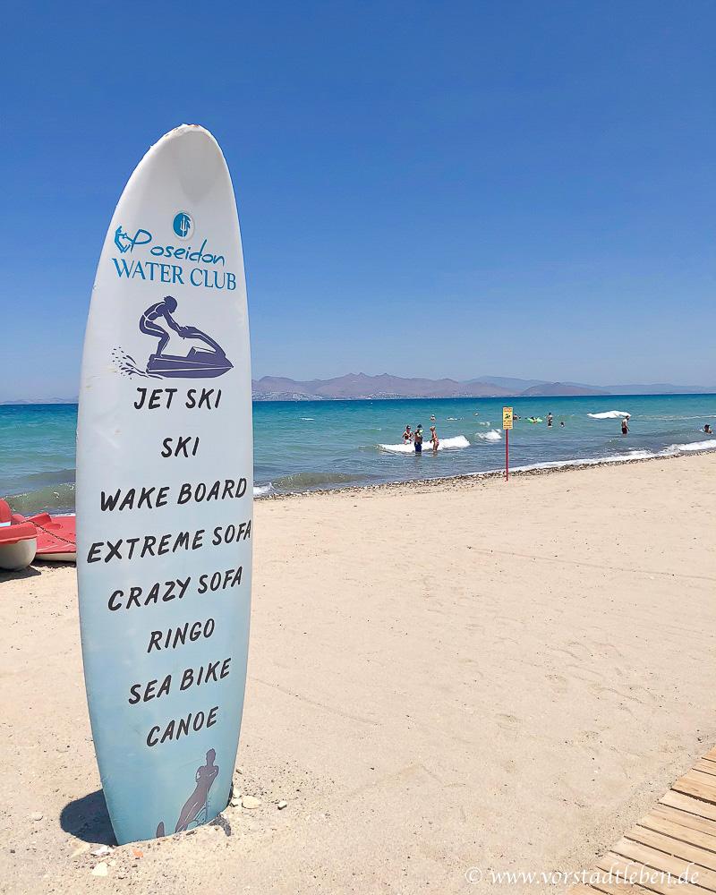 Urlaub auf Kos Hotel Astir Odysseus Strand Meer Wassersport