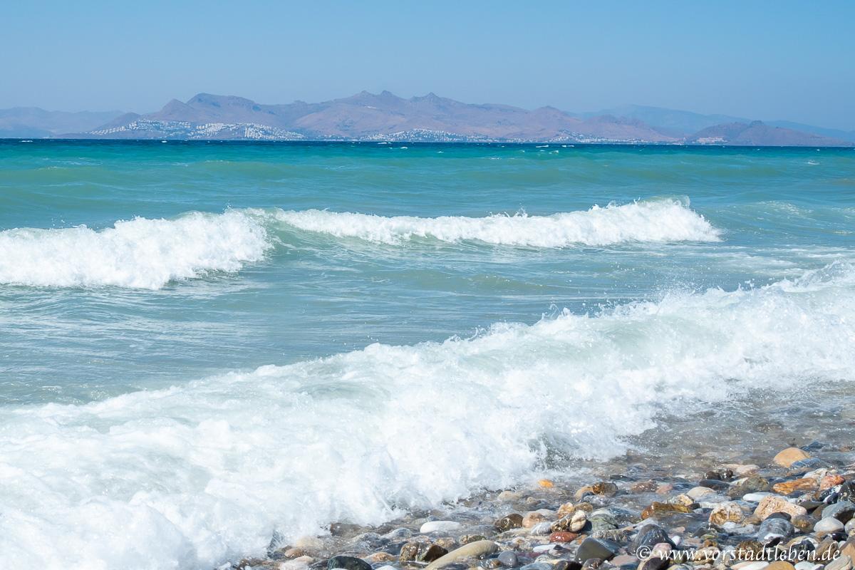 Urlaub auf Kos Meer Blick auf Bodrum
