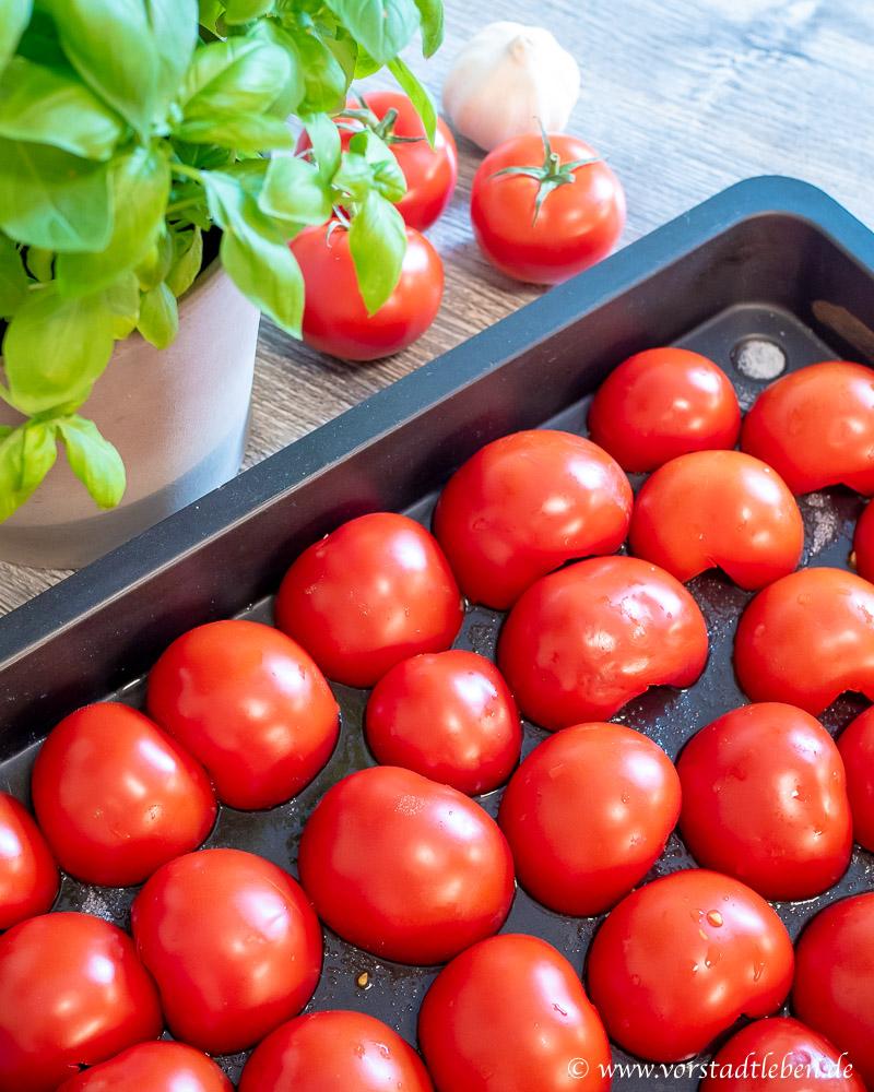 Ofentomatensauce Tomaten Backblech