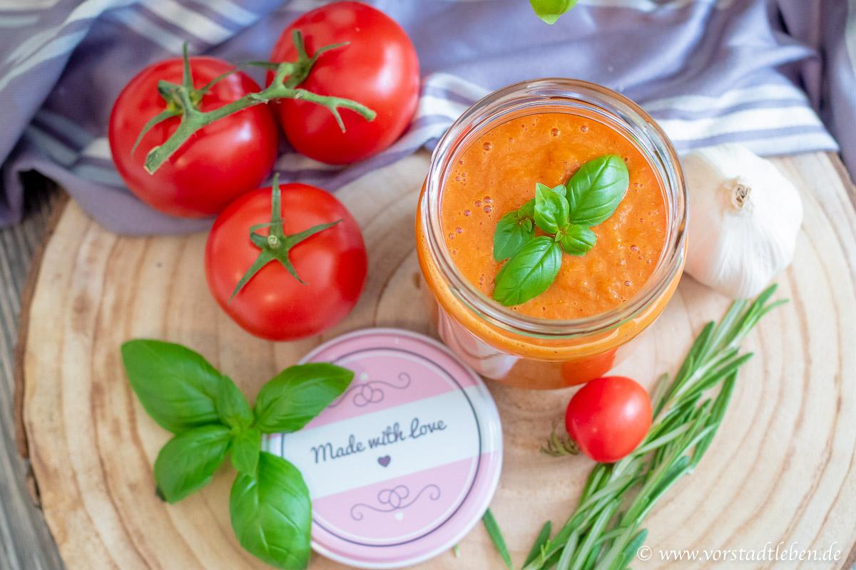 Tomatensauce aus dem Ofen Vorrat