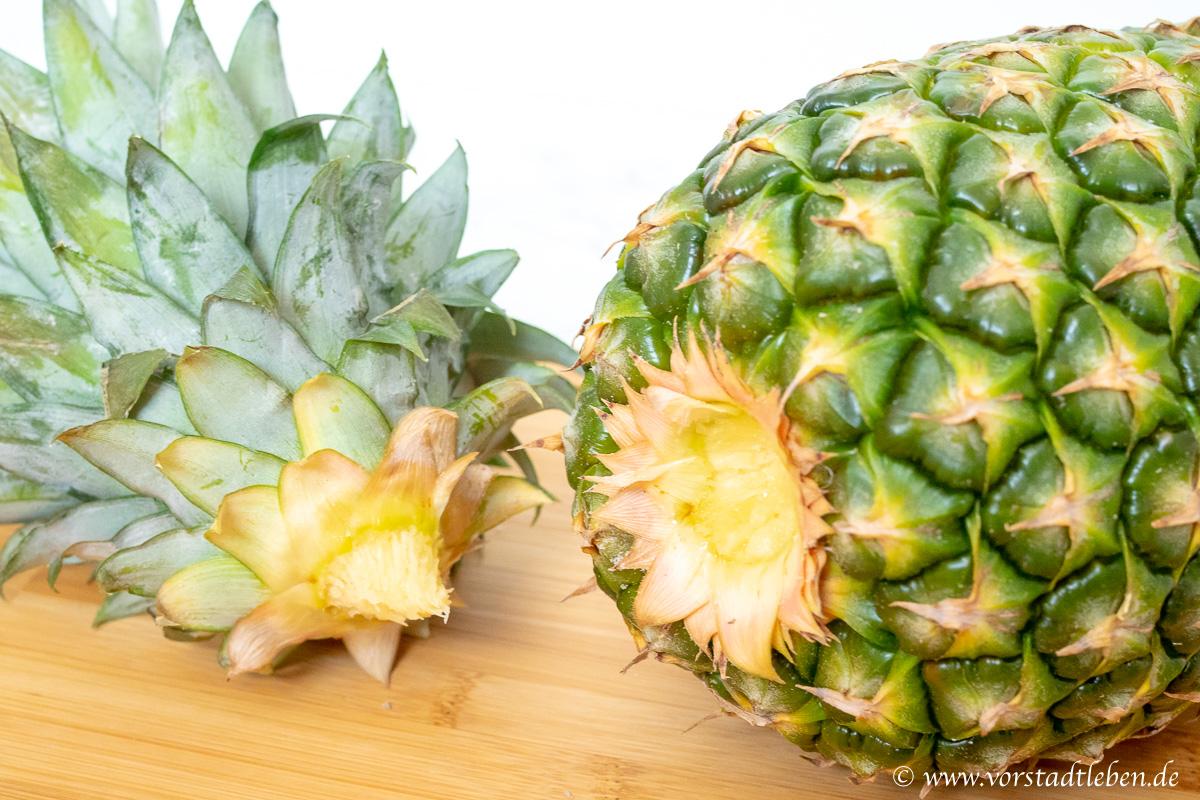ananas selber ziehen blattwerk entfernen