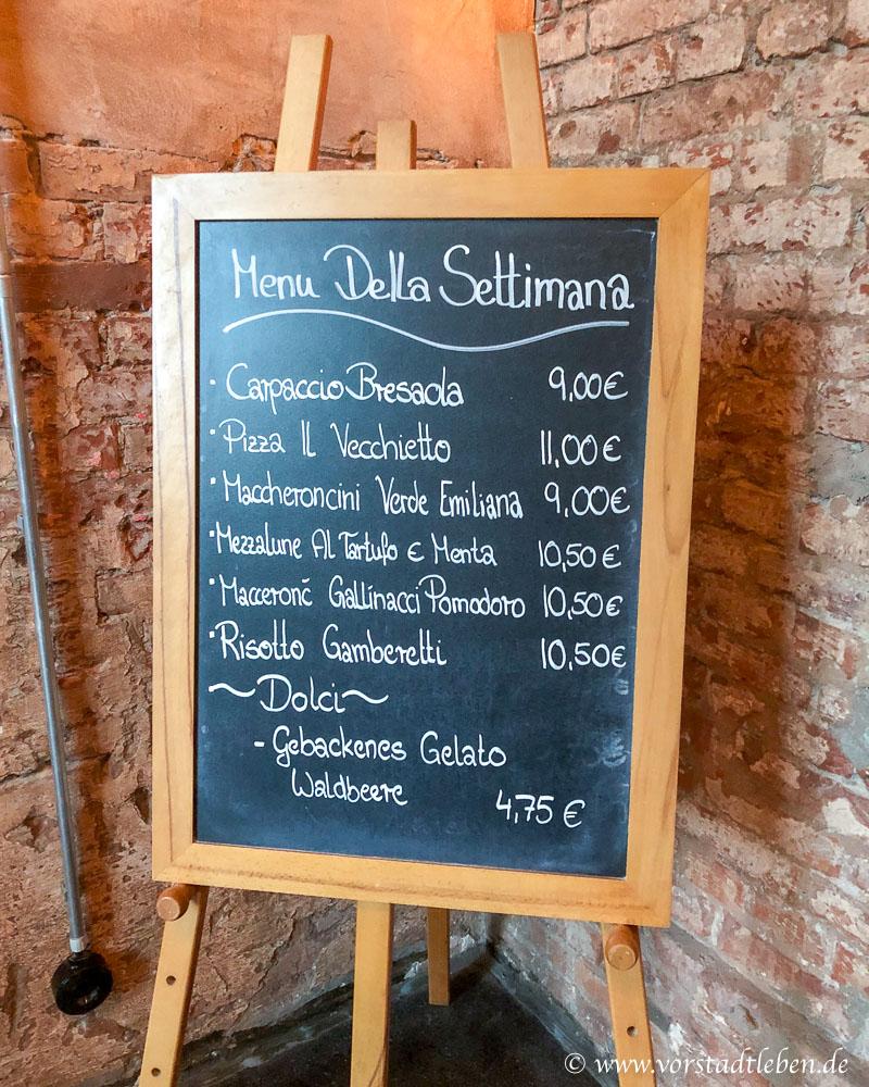 L'Osteria menue Wochenkarte