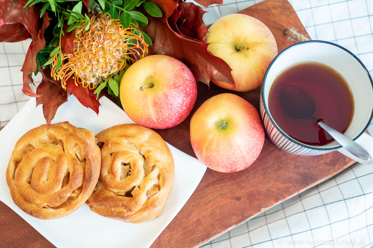 Lecker ins Wochenende Apfel Zimt Schnecken