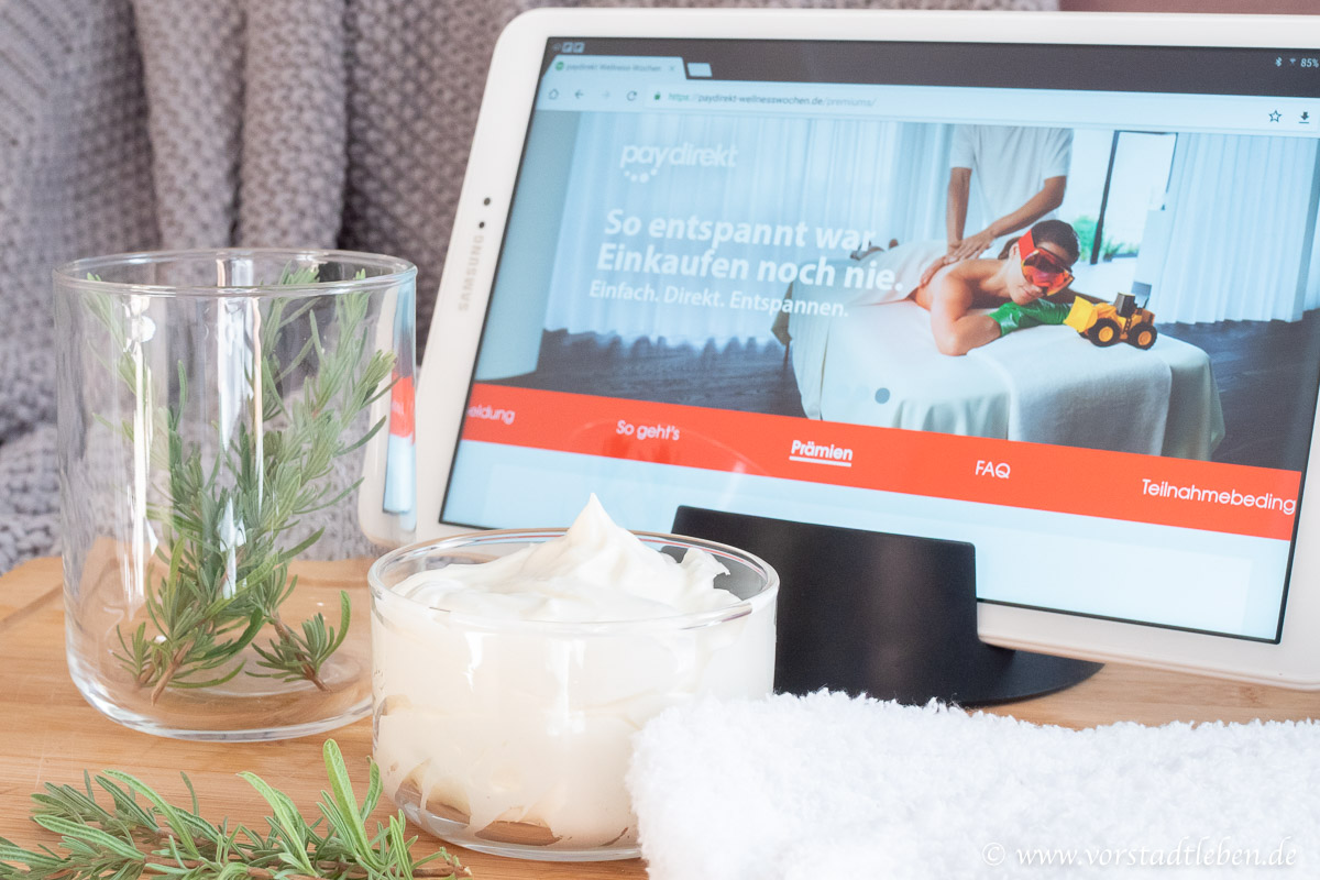 Entspannt einkaufen Fussbutter DIY Wellnesswochen paydirekt