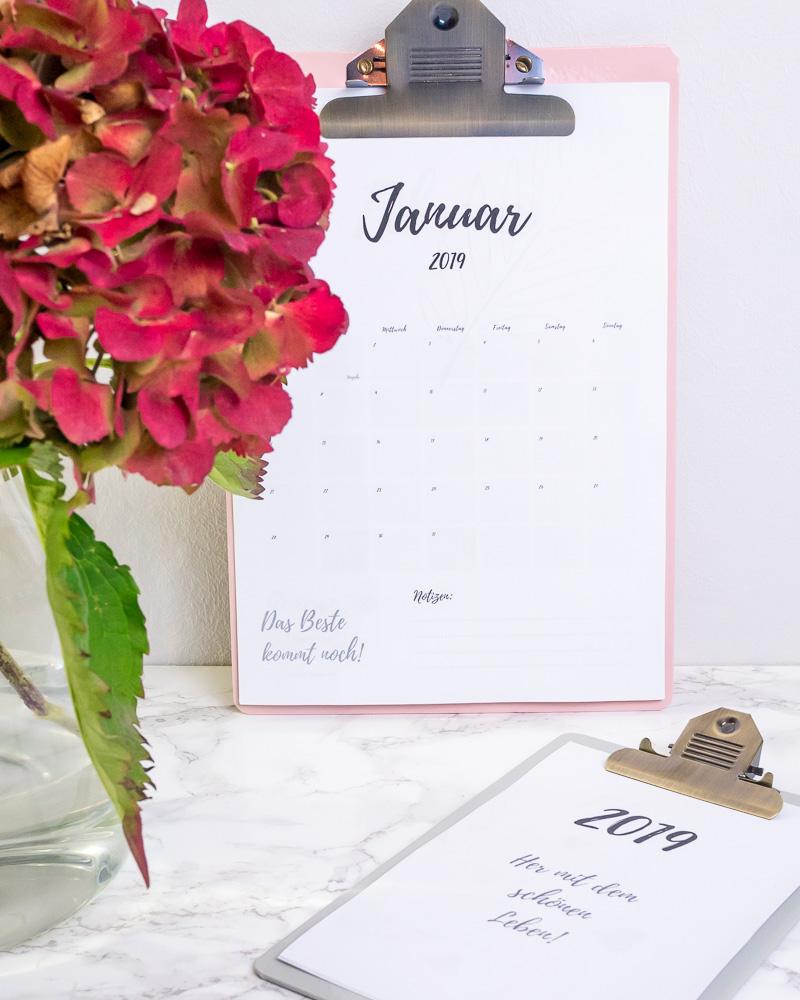 Freebie PDF Kalender 2019